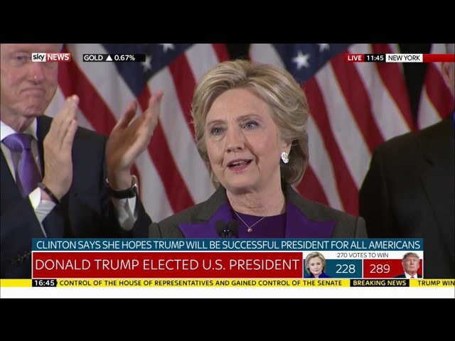 Hillary Clinton's concession speech 1