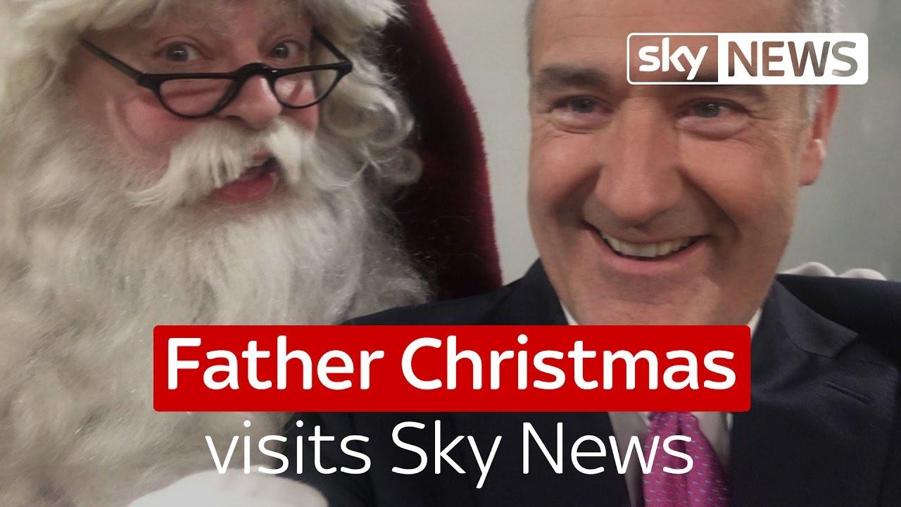 Father Christmas visits Sky News 10