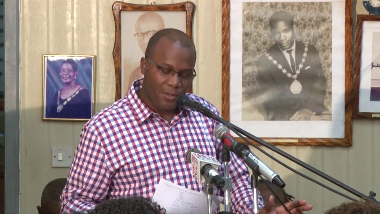 Hon  Robert Tonge address at Roseau Town Hall Meeting 2