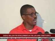 OVER ONE MILLION FOR LAPLAINE CONSTITUENCY