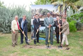 Marriot Groundbreaking Ceremony November 20 2016                  The Governor General of Antigua and Barbuda, Minister of                  Tourism, Government Officials and Hotel Investors Break                  Ground