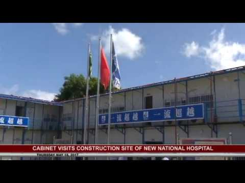 PM AND CABINET VISIT HOSPITAL CONSTRUCTION SITE- MAY 18 2017 5