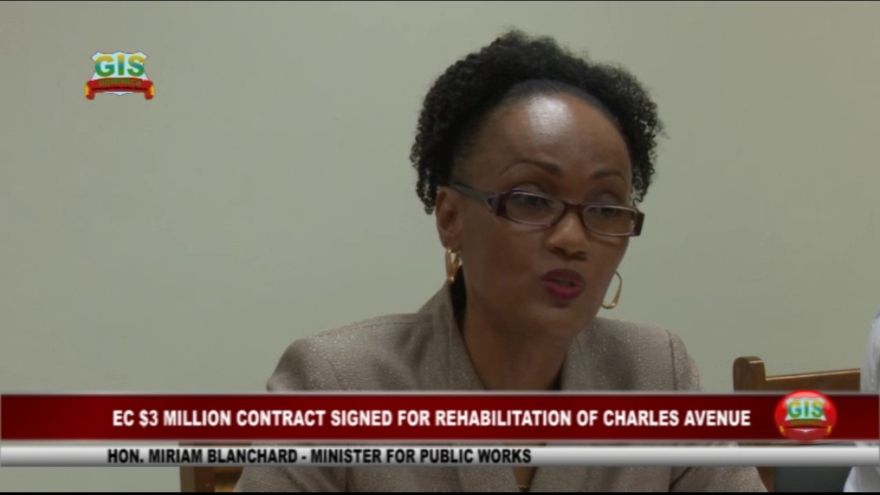 EC$3.05 MILLION SIGNED FOR REHABILITATION OF CHARLES AVENUE IN GOODWILL 1