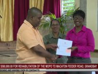 OVER $560K FOR REHABILITATION OF MOPO TO MACATON FEEDER ROAD