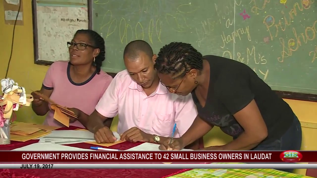 42 SMALL BUSINESSES IN LAUDAT RECEIVE FINANCIAL ASSISTANCE JULY 19 1
