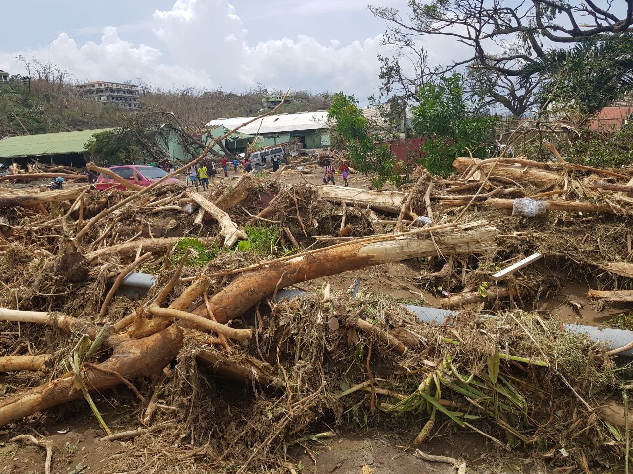 Roseau Dominica Post Hurricane Maria Update Hurricane Maria Damaged Dominica
