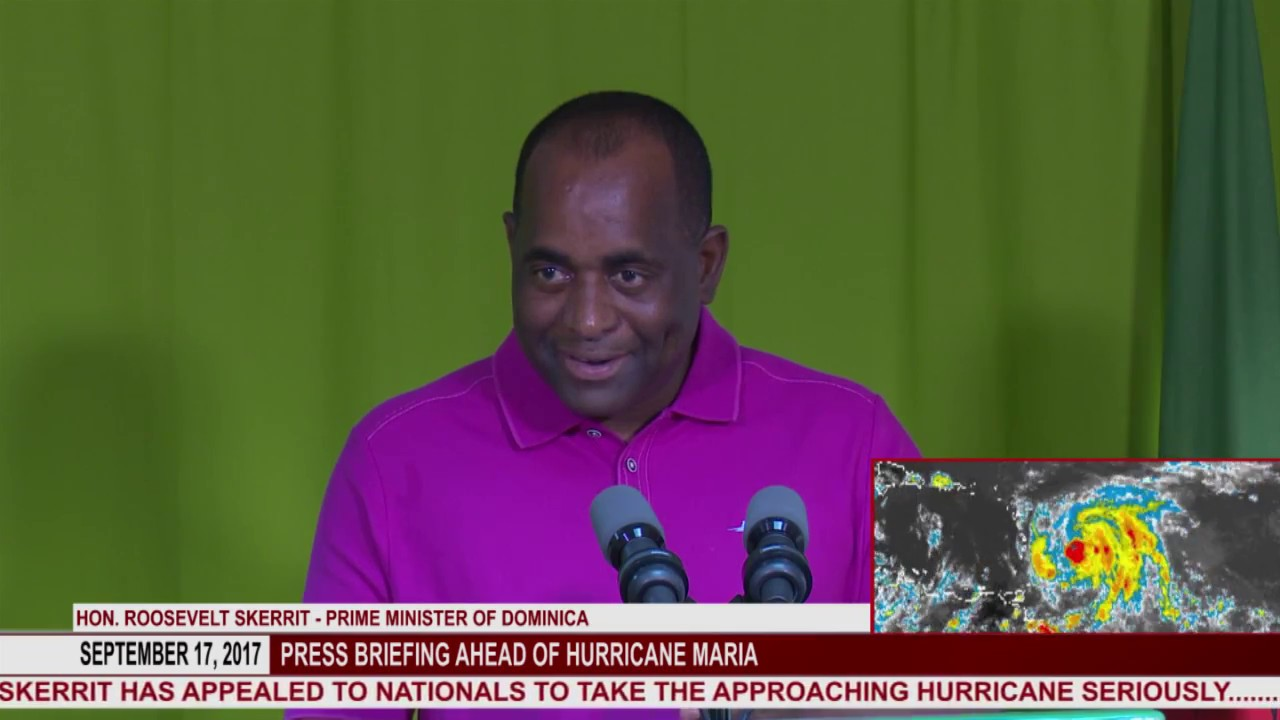 Press briefing ahead of Hurricane Maria 4