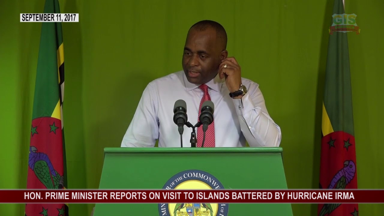 Prime Minister's Press Conference re Hurricane Irma 8