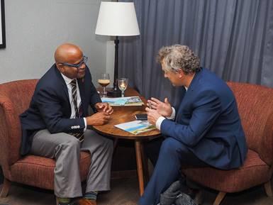 Dest              SKN-Media - Minister Grant meets with Steve Hartridge