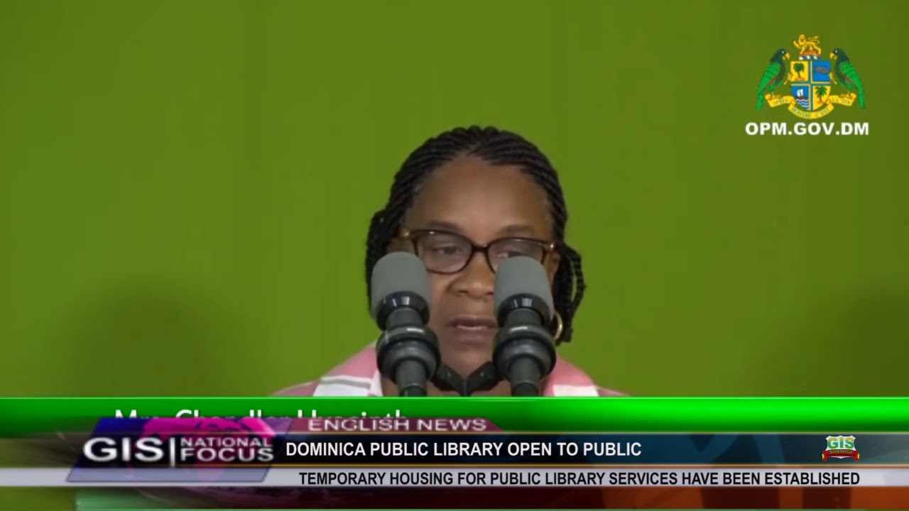 DOMINICA PUBLIC LIBRARY RE-OPENS AFTER HURRICANE MARIA 2