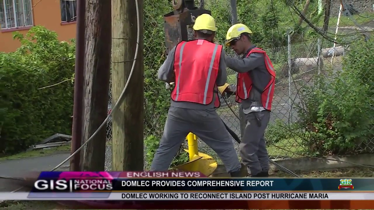 DOMLEC CONTINUES ITS EFFORTS TO RESTORE POWER 5