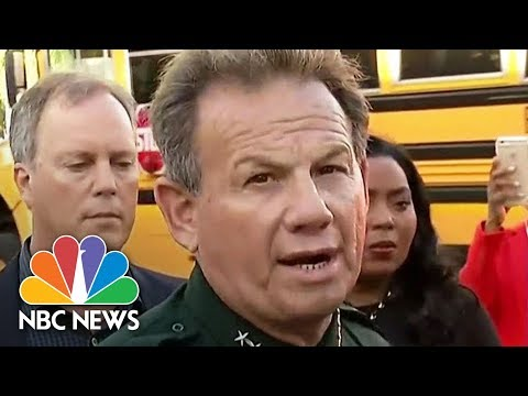 Florida School Shooting Suspect Approximately 18 Years Old Sheriff Scott Israel Says | NBC News 1
