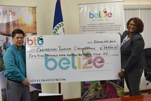 BTB presents U.S. $59,934.00 cheque to CTO Relief Fund 4