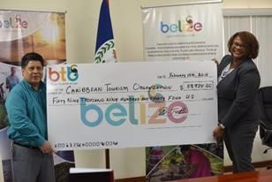 BTB presents U.S. $59,934.00 cheque to CTO Relief Fund 2