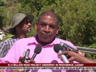 $1.3 MILLION ROAD PROJECT IN PROVIDENCE, LAUDAT 4