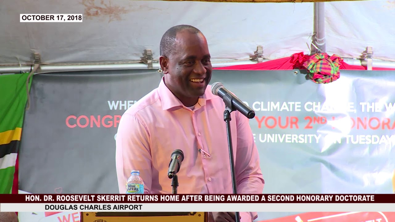 Congratulatory ceremony for Hon. Dr. Roosevelt Skerrit 1