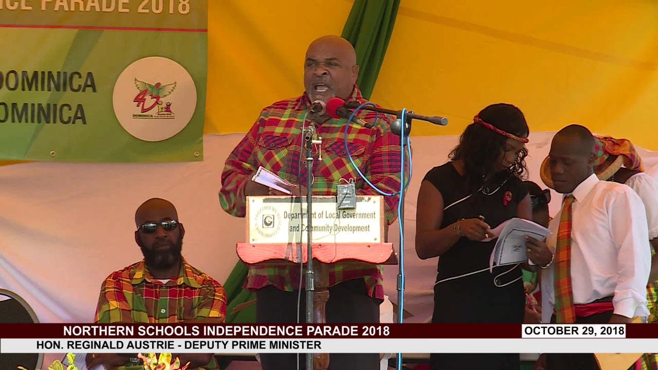 HON REGINALD AUSTRIE ADDRESSES NORTHERN SCHOOLS INDEPENDENCE PARADE 2018 6
