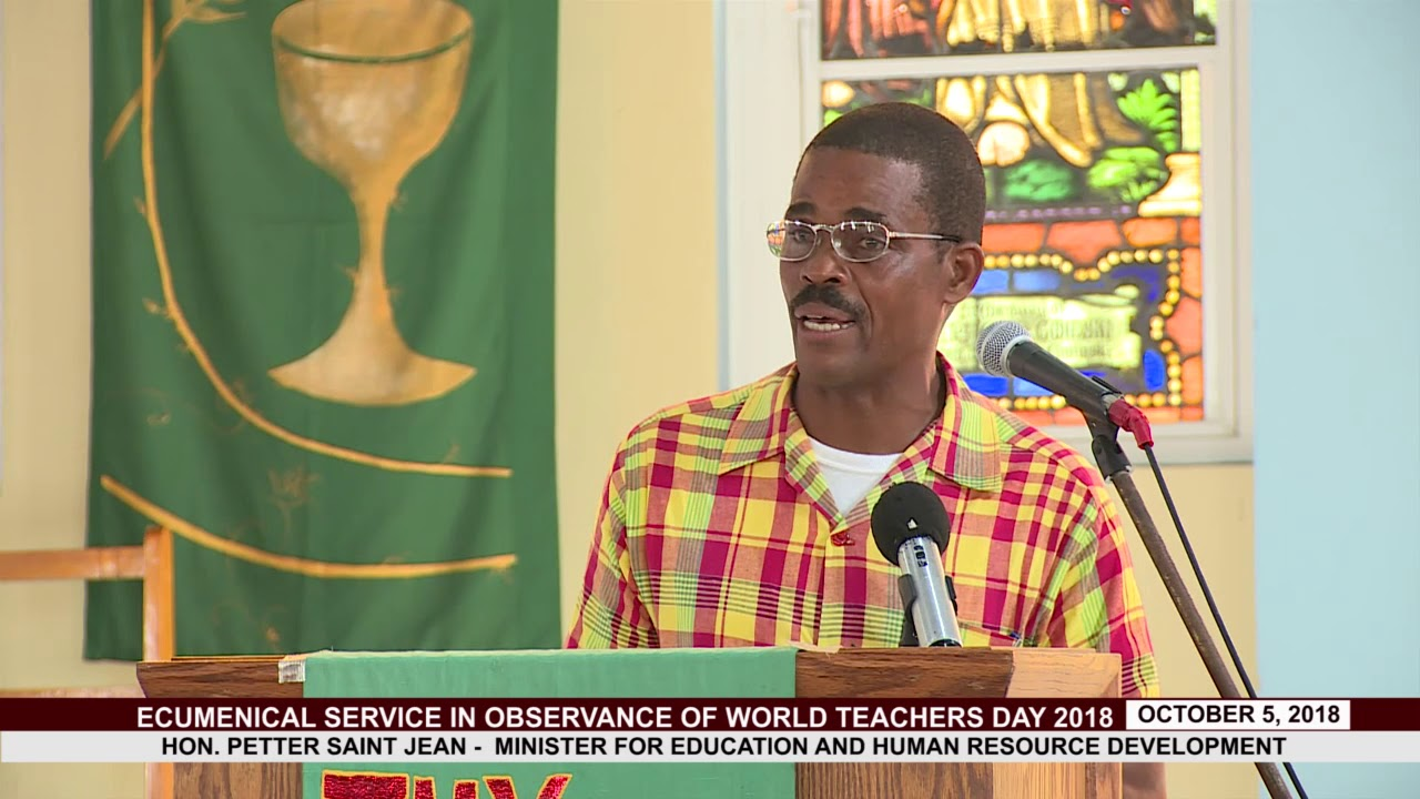 Hon. Minister for Education Addresses Teachers on World Teachers Day 2018 1