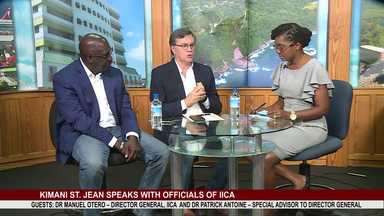 KIMANI ST  JEAN SPEAKS WITH OFFICIALS OF IICA PART 1 2
