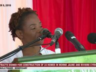 Contracts signed for the construction of 24 homes in Morne Jaune and Riviere Cyrique 43