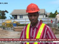 WORK PROGRESSES ON RESOURCE AND EMERGENCY SHELTER IN LAYOU
