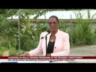 Launch of Skills Training Programme in Tete Morne 2