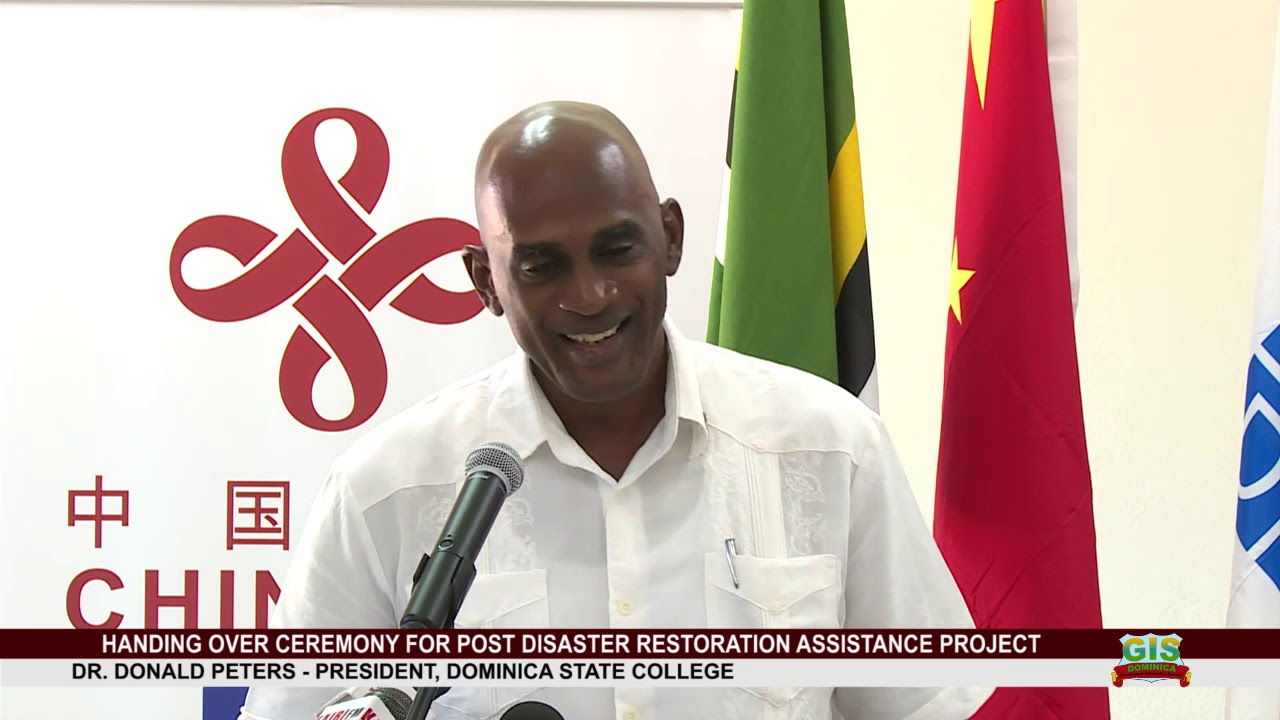 UNDP'S IAN KING ADDRESSES HAND OVER OF POST DISASTER RESTORATION ASSISTANCE PROJECT 7