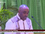 Hon. Rayburn Blackmoore addresses National Consultation on Cannabis