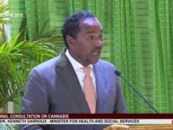 Minister for Health Dr. Kenneth Darroux addresses National Consultation on