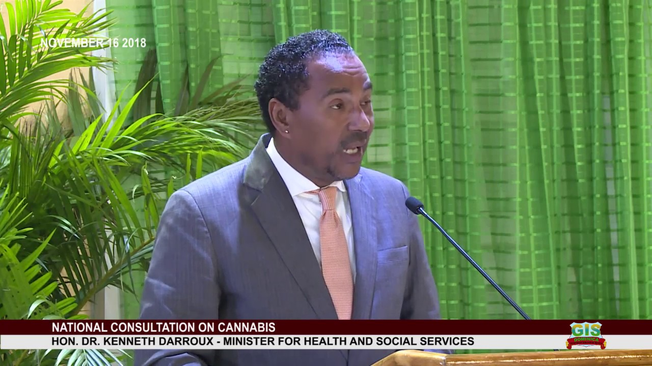 Minister for Health Dr. Kenneth Darroux addresses National Consultation on 1