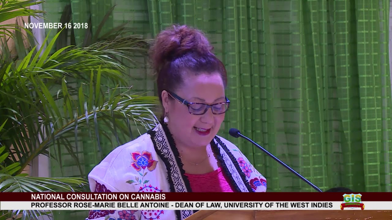 Professor Rose-Marie Belle Antoine addresses National Consultation on Cannabis 1