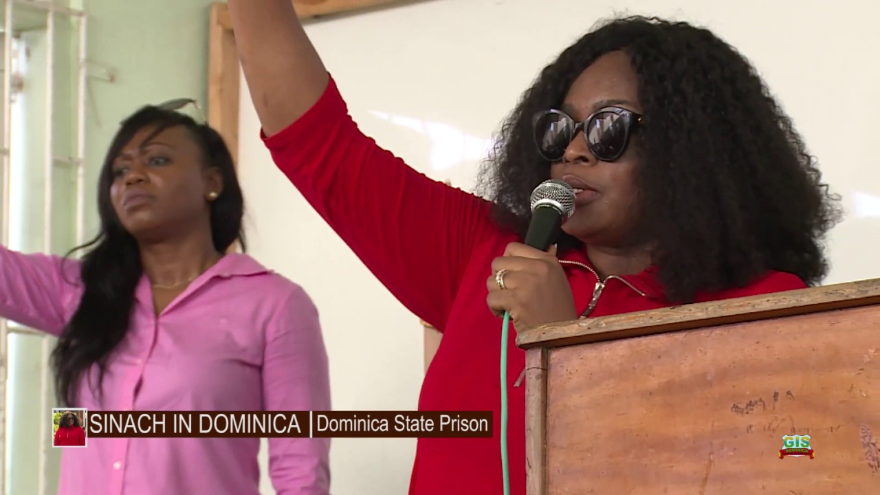 SINACH at the Dominica State Prison 5