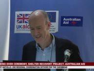 HANDING OVER CEREMONY OF AUSTRALIA AID FUNDED SHELTER RECOVERY PROJECT 1