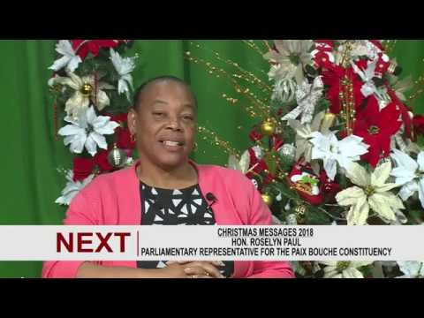 Christmas Message from Hon. Roselyn Paul 2