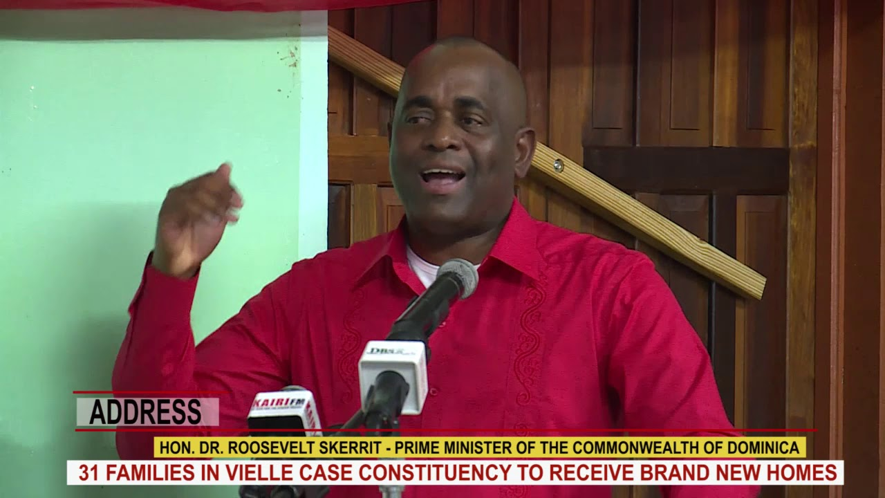 Hon. Prime Minister Dr. Roosevelt Skerrit addresses hand over of houses in Vielle Case constituency 1