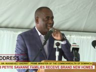 PRIME MINISTER HON. DR. ROOSEVELT SKERRIT ADDRESSES HAND OVER OF 38 HOMES IN BELLEVUE CHOPIN 2