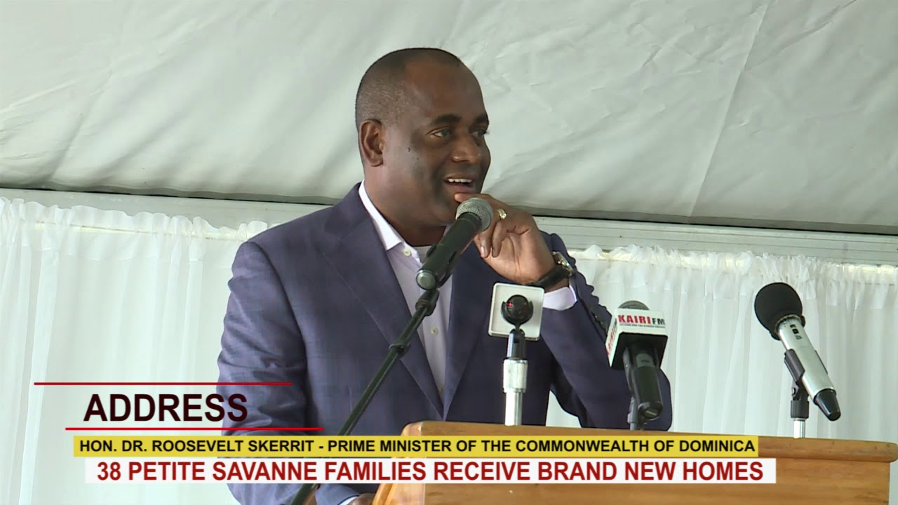 PRIME MINISTER HON. DR. ROOSEVELT SKERRIT ADDRESSES HAND OVER OF 38 HOMES IN BELLEVUE CHOPIN 1