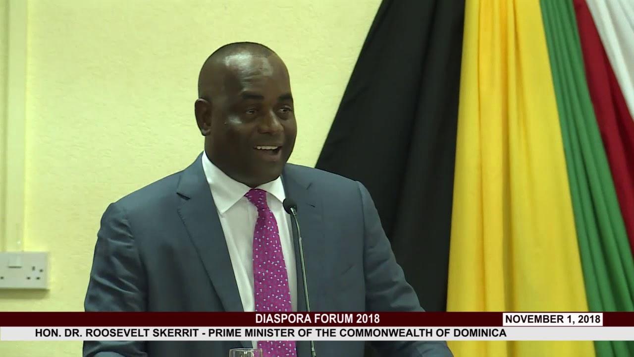HON  PRIME MINISTER DR. ROOSEVELT SKERRIT ADDRESSES DIASPORA FORUM 2018 3