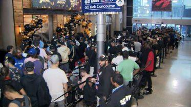 Fans spend night in line for Raptors OVO gear in Toronto 10