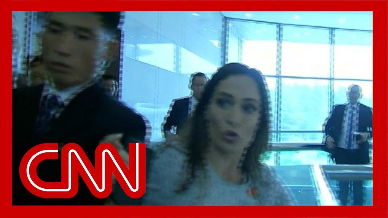 Stephanie Grisham injured by North Korean officials 2