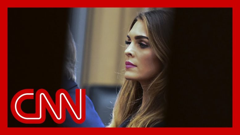 Congressman: Hope Hicks refused to answer these questions 1