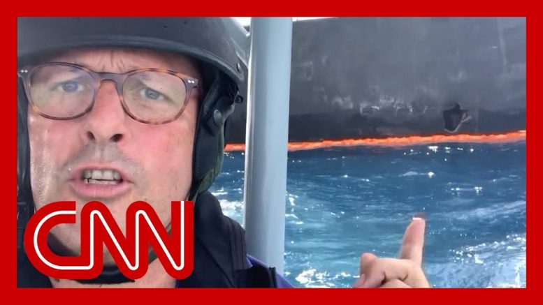 CNN reporter gets up-close look at attacked tanker 1