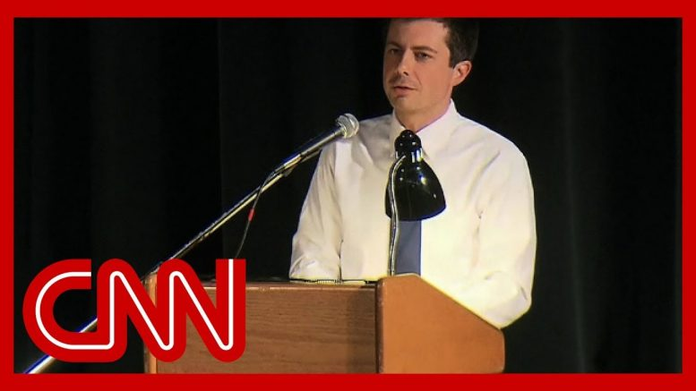 Watch heated moment from Pete Buttigieg's town hall 1