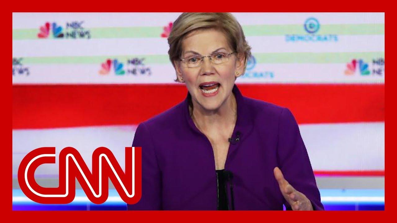 Hear Elizabeth Warren's response to question about debating Bernie Sanders 9