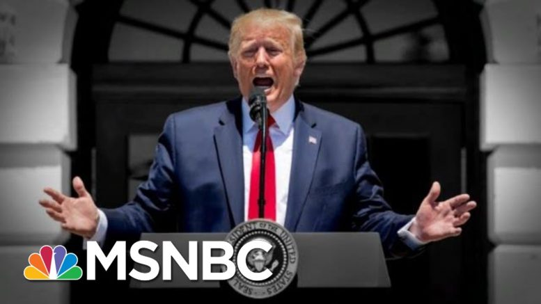 Trump Thanks GOP And Attacks Pelosi In Late Night Tweets After House Rebuke | The 11th Hour | MSNBC 1