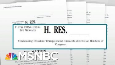 House Passes Resolution Condemning President Donald Trump's Racist Remarks | Rachel Maddow | MSNBC 10