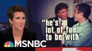 Donald Trump Describes kissing Married TV Host In Creepy 1992 Interview | Rachel Maddow | MSNBC 4