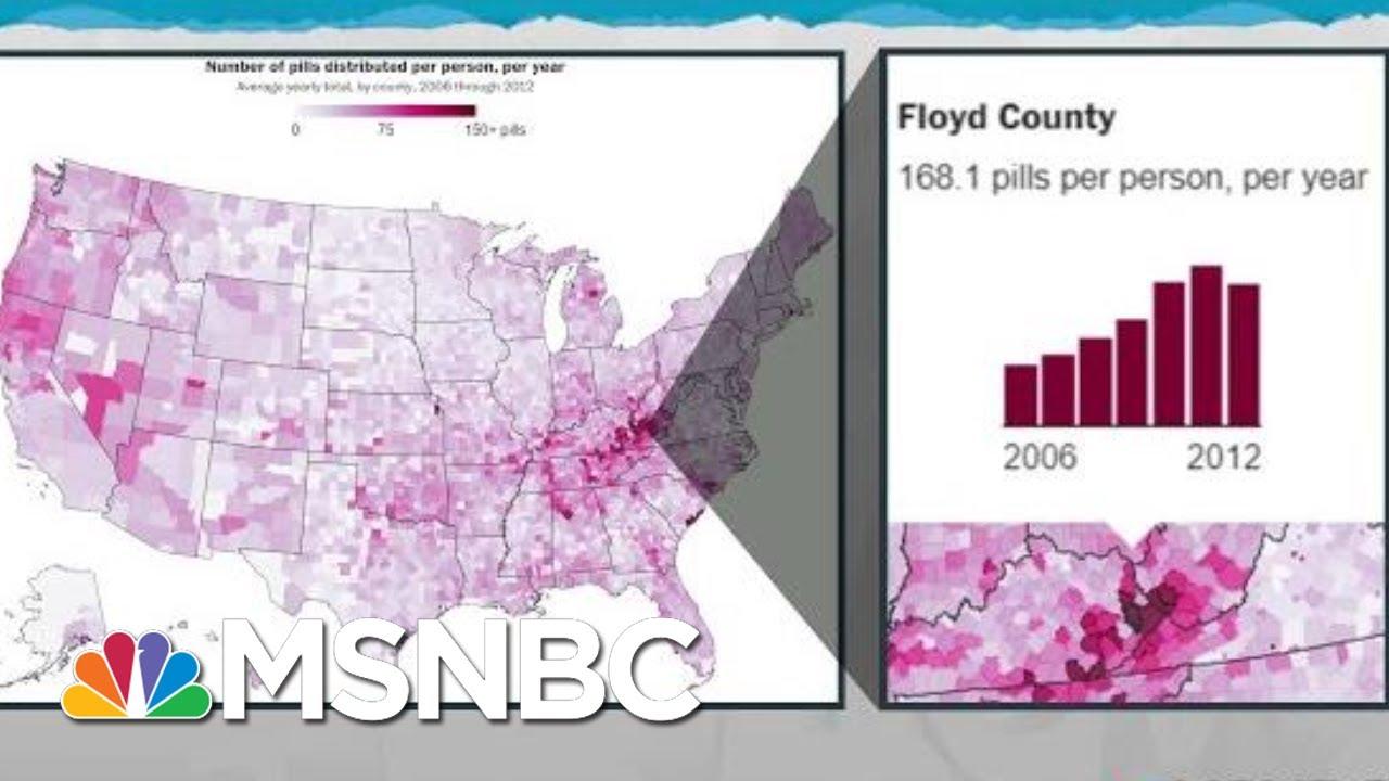 Report Exposes Data, Unconscionable Business Of Opioid Epidemic | Rachel Maddow | MSNBC 7