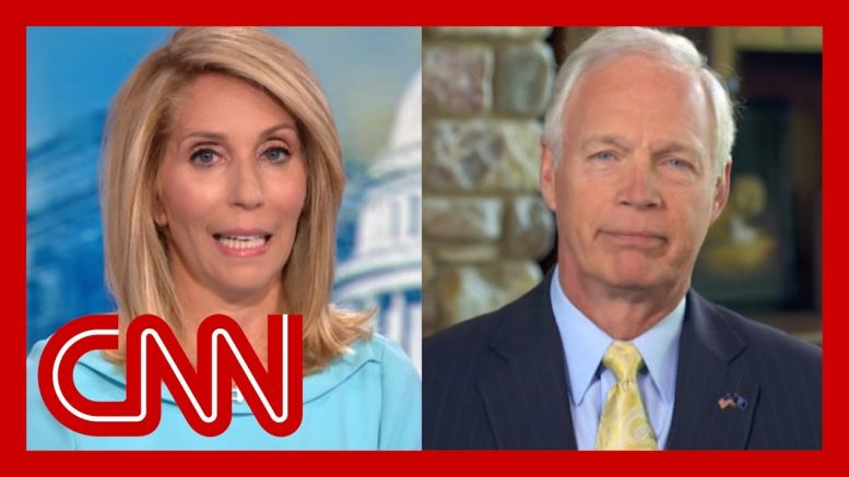 Dana Bash presses Sen. Ron Johnson to disavow President Trump's attacks on Dems 1