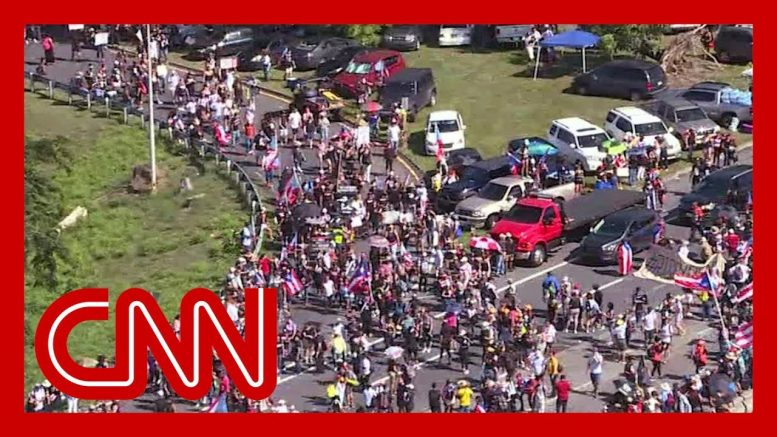 Massive protests shut down highway in Puerto Rico 1